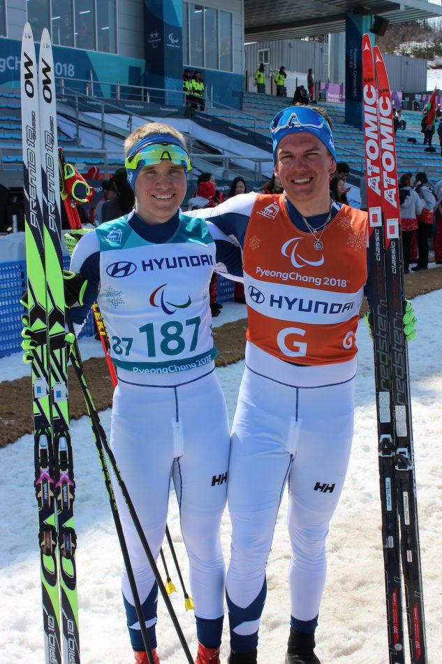Hiihtäjä Inkki Inola paralympialaisissa PyeongChangissa 2018